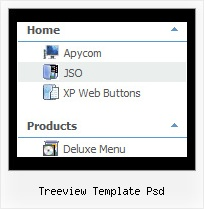 Treeview Template Psd Tree Expanding Navigation Menu