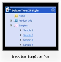 Treeview Template Psd Dhtml Menu Tree Dynamic