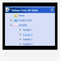 Web Design Template Treeview And Tab Pulldown Menus Tree