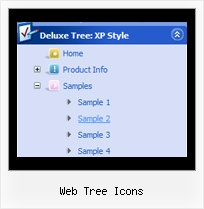 Web Tree Icons Tree Scrolling Menu