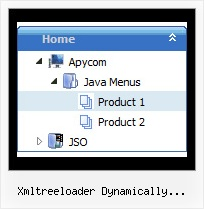 Xmltreeloader Dynamically Generated Data Tree Hover Menu