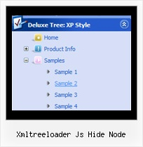 Xmltreeloader Js Hide Node Tree View Menu Maker