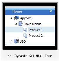 Xsl Dynamic Xml Html Tree Templates Menus En Tree View