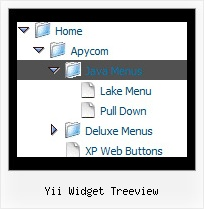 Yii Widget Treeview Sliding Menus Tree