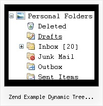 Zend Example Dynamic Tree Categories Tree Menu Tree Dhtml