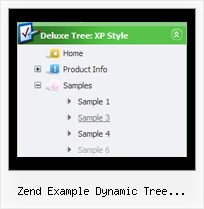 Zend Example Dynamic Tree Categories Down Menu Tree