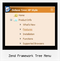 Zend Framework Tree Menu Tree Clear Drop Down