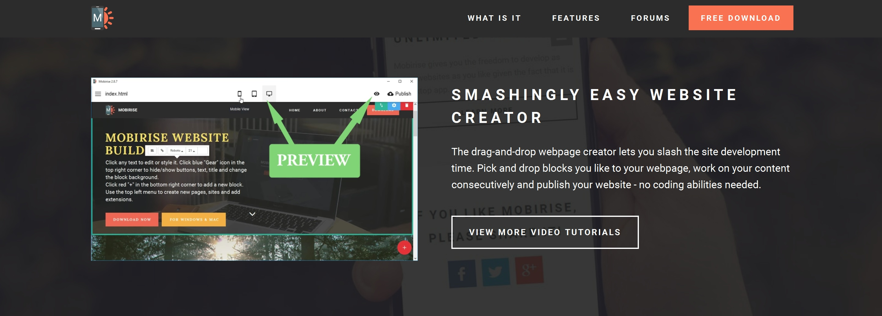 Free and Simple Website Creator Tool