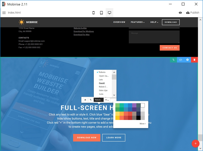 Bootstrap Easy Website Creator