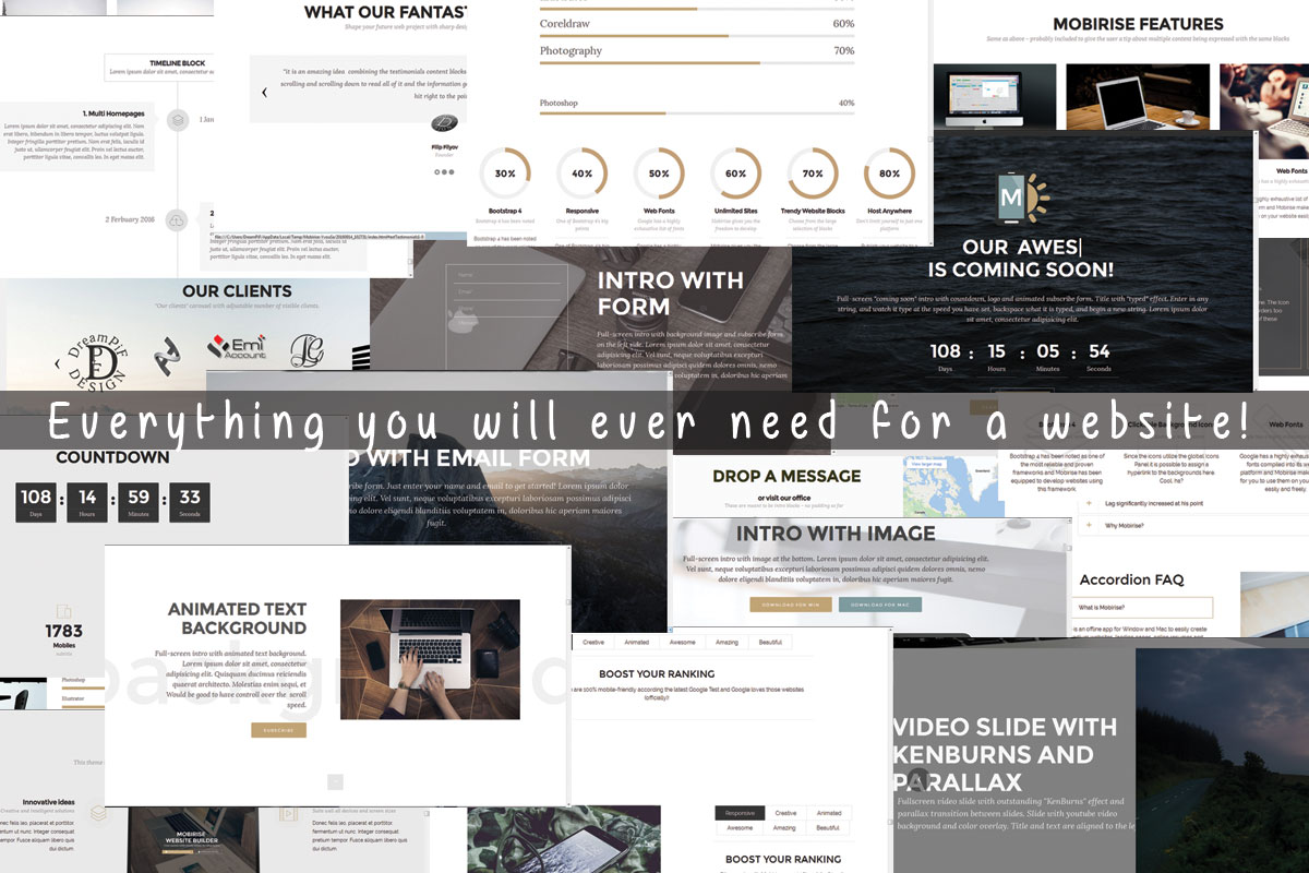 HTML Responsive Web Page Builder Software