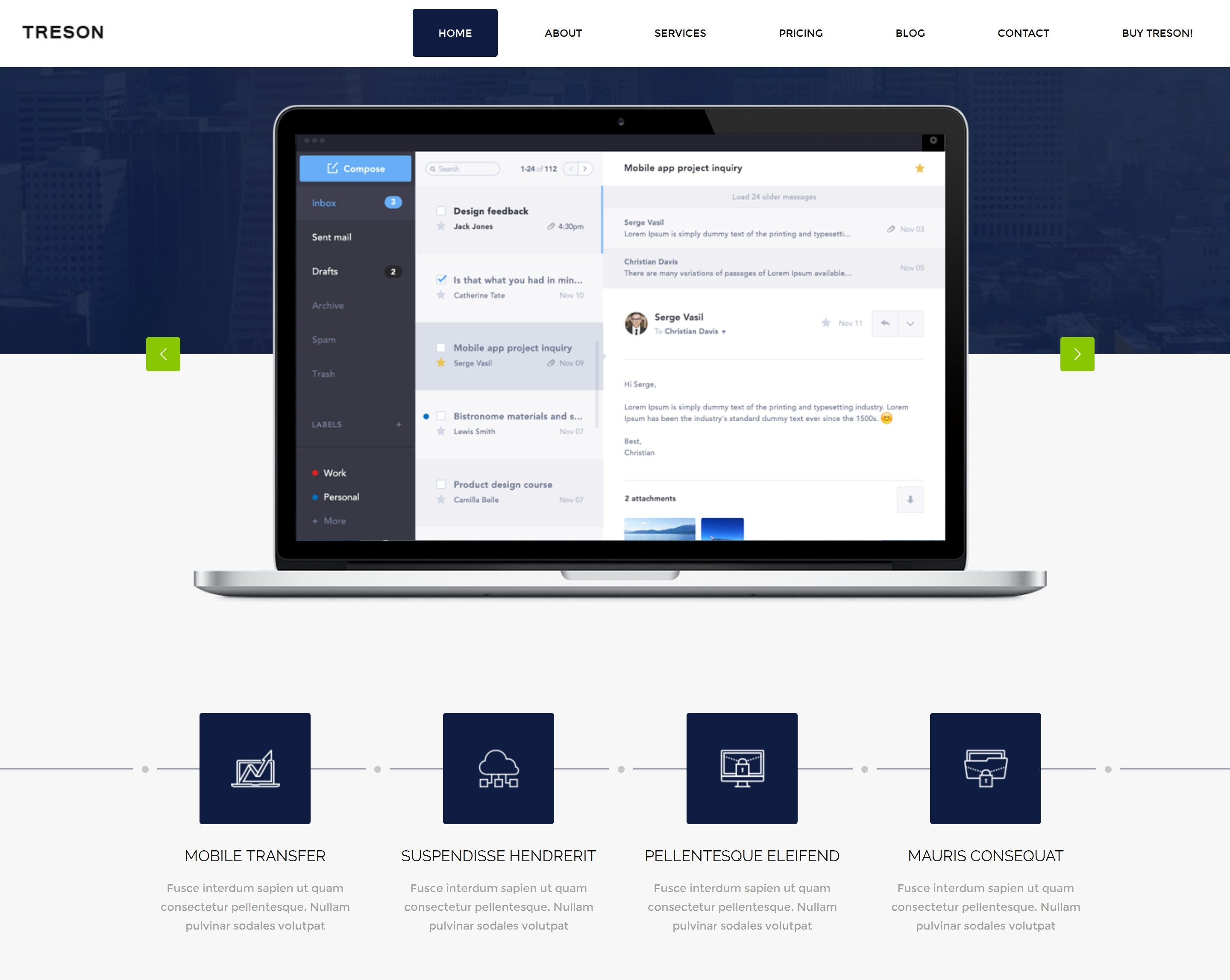 HTML Bootstrap Blog Theme