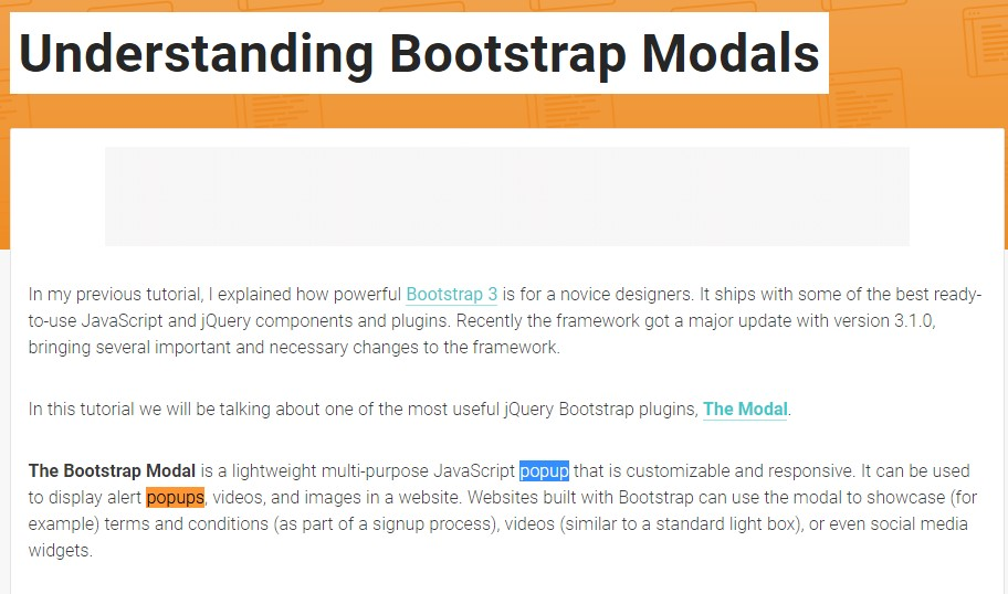 Yet another  practical article  concerning Bootstrap Modal Popup
