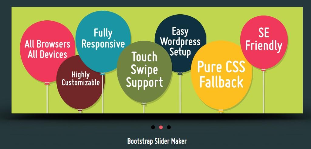 Bootstrap Slider Template