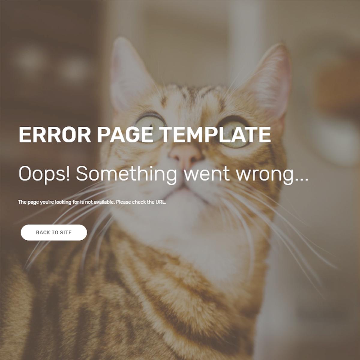 CSS3 Bootstrap Error Themes