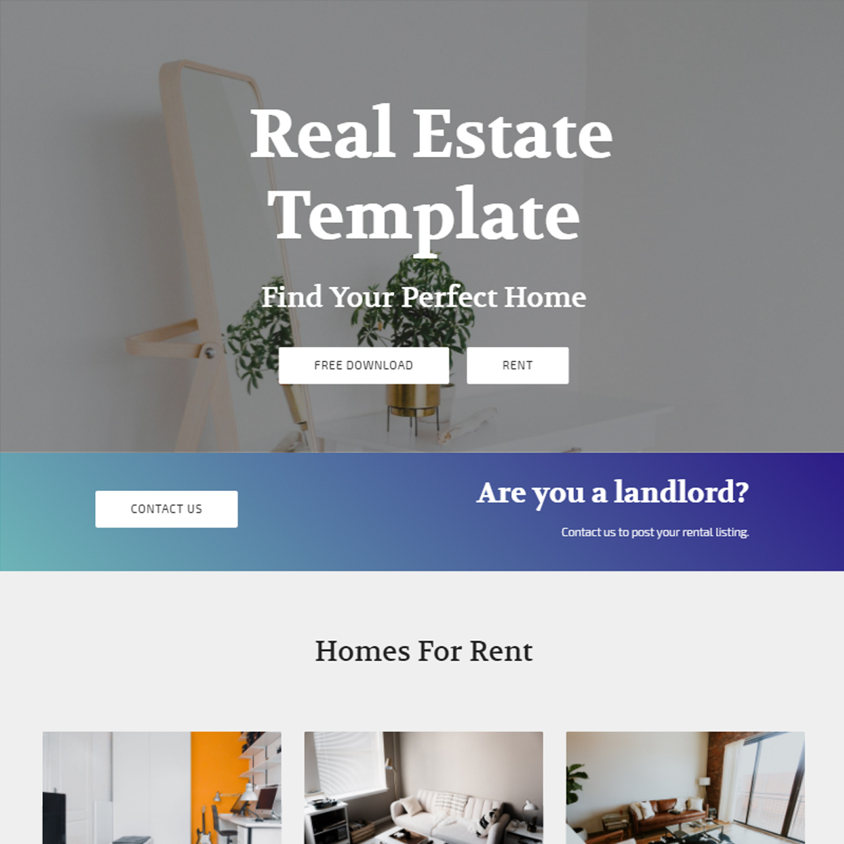 Responsive Bootstrap Real Estate Templates
