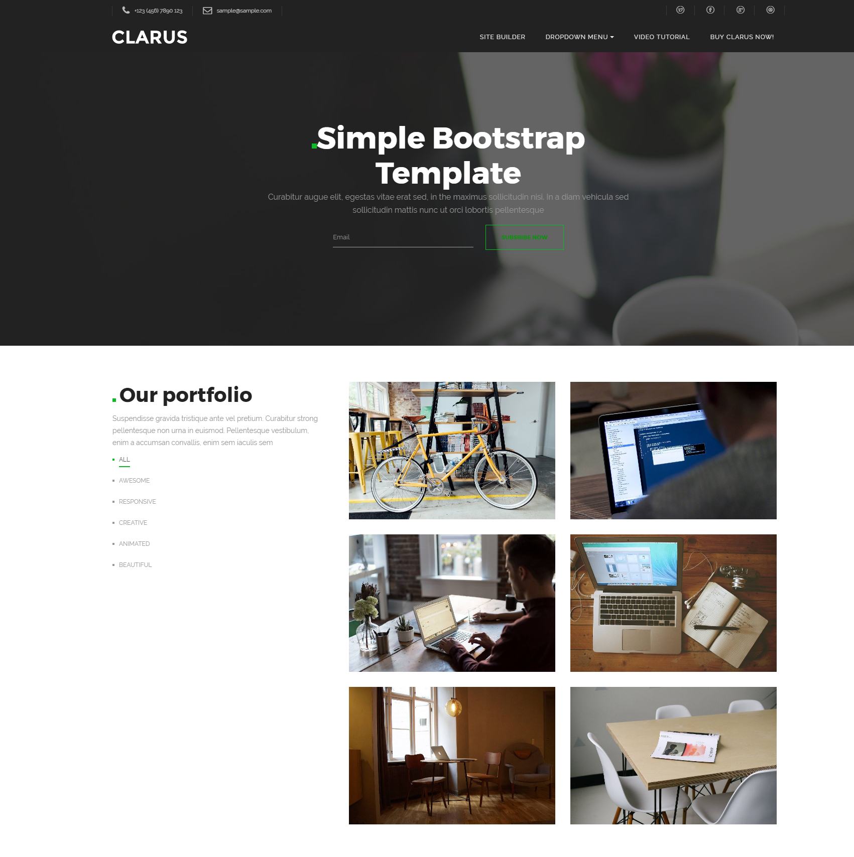 Responsive Bootstrap Simple Templates
