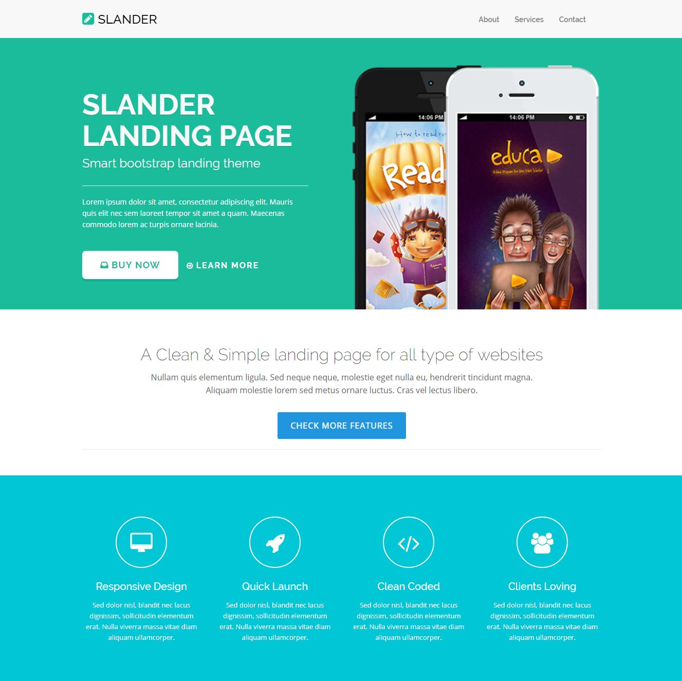 HTML5 Bootstrap Slander Templates
