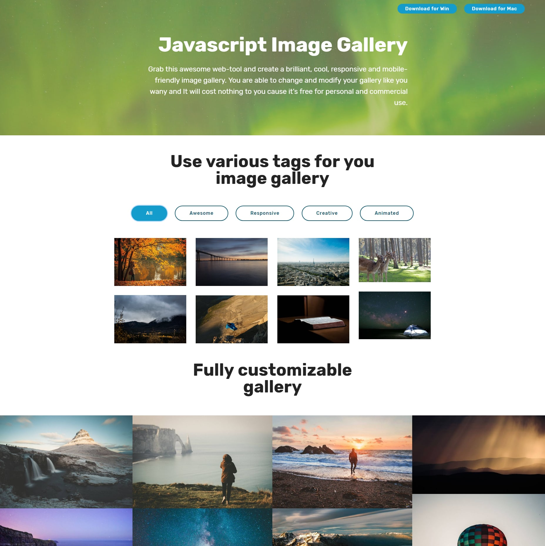 Responsive Bootstrap Illustration Gallery