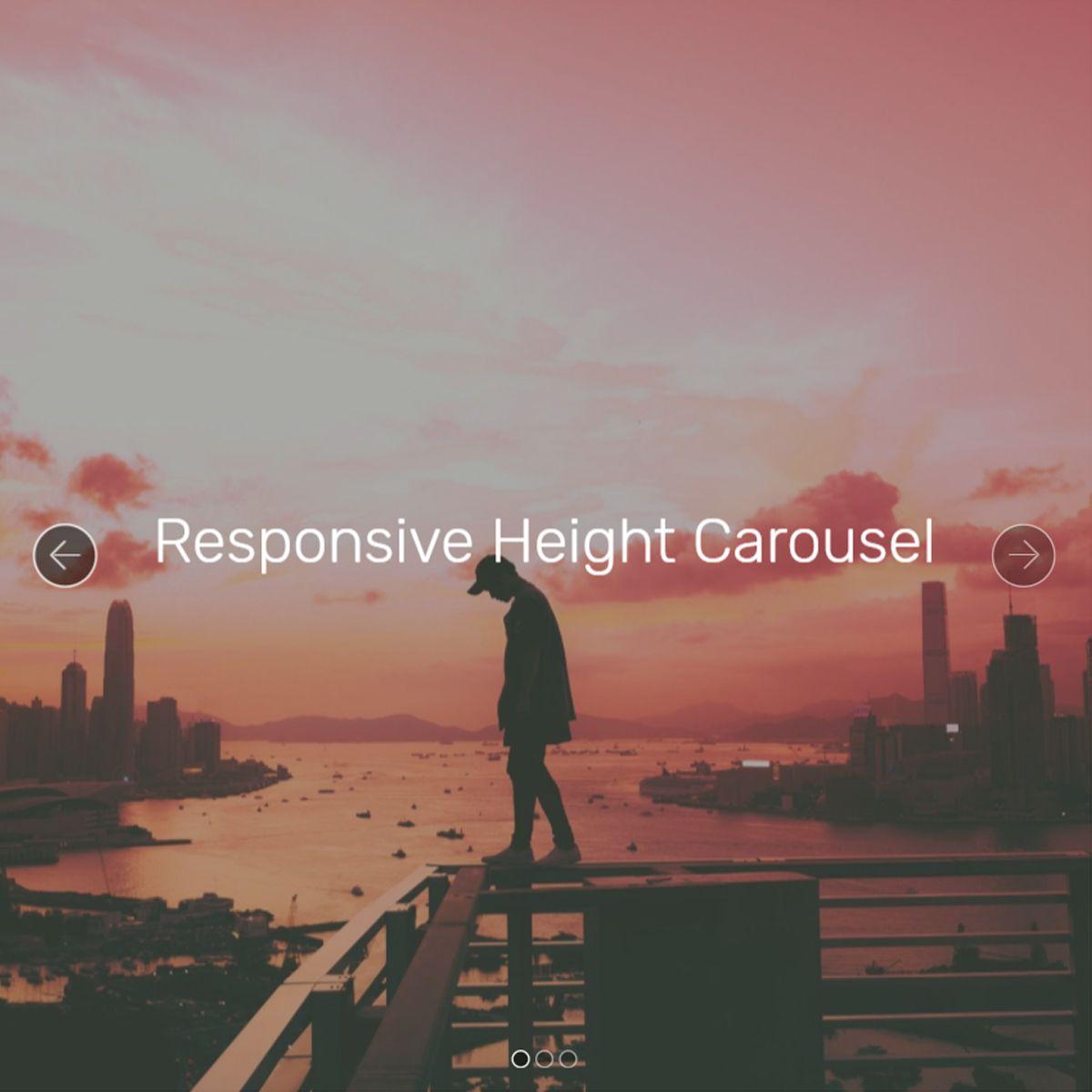 HTML5 Bootstrap Illustration Slideshow