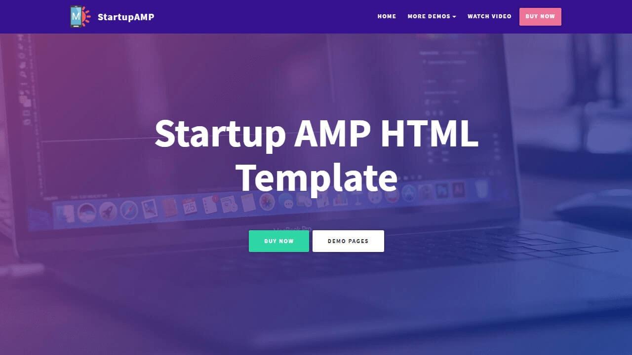 AMP HTML Header Template