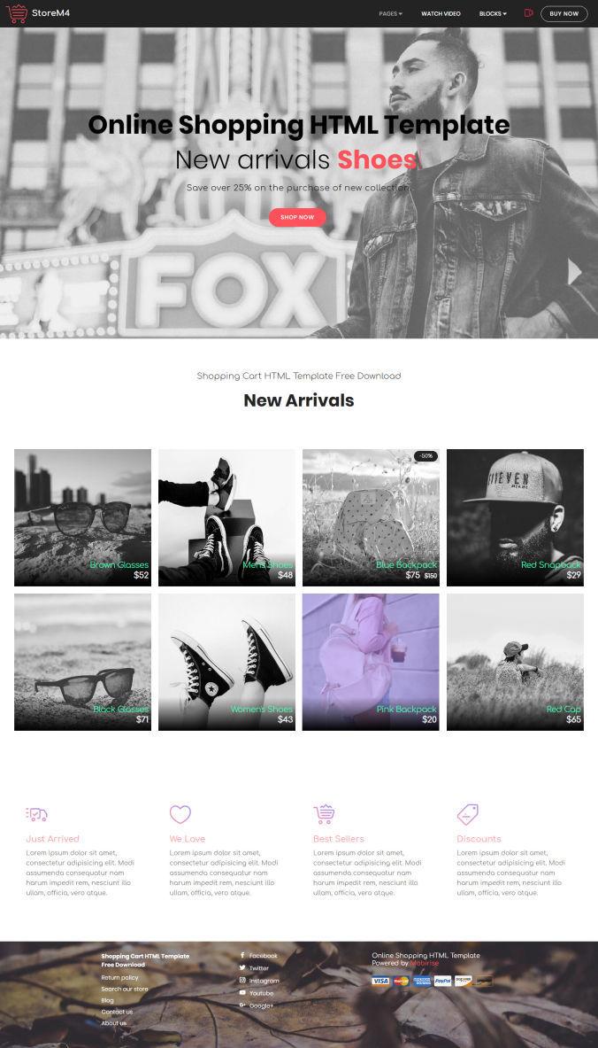 Shopping Website Template