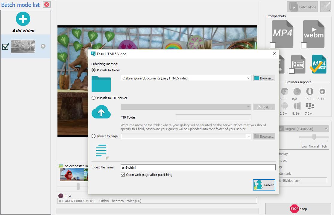 Free HTML5 Video Converter