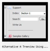 Alternative A Treeview Using Javascript Style Tree Horizontal Navigation Bar