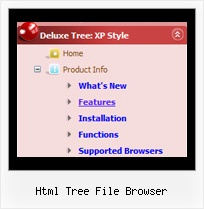 Html Tree File Browser Web Scroll Menu Tree