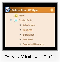 Treeview Clients Side Toggle Simple Submenu Vertical Tree